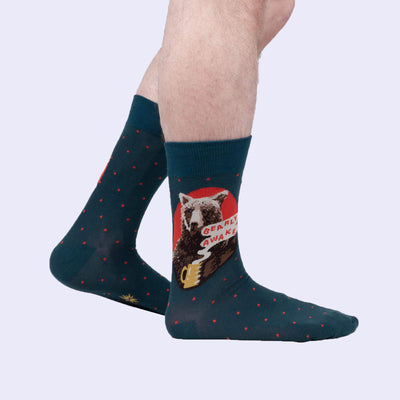 Bearly Awake Crew Socks (Men's)
