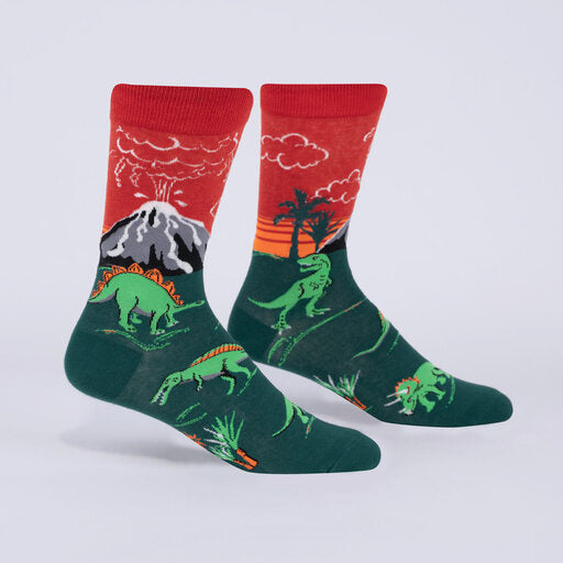 Dinosaur Days Glow-in-the-Dark Socks (Men's Crew)