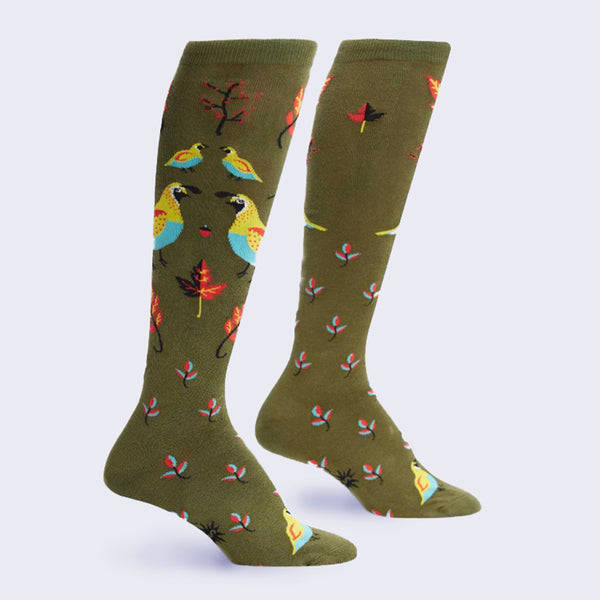 Well Quail-ified Socks (Knee High - Women's)