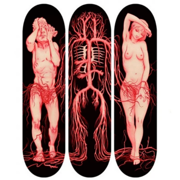 From the Vault: James Jean x Giant Robot - Exit Eden Skate Decks (Set of 3) - Remainder D