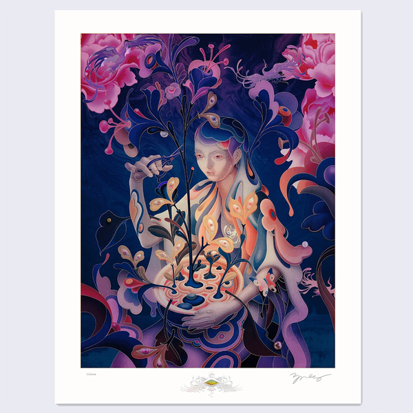 James Jean - The Editor - Night Mode Print