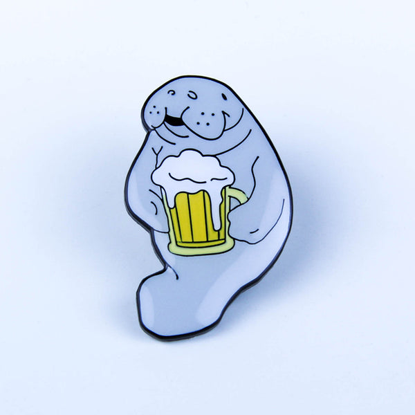 Take A Penny Co. - Artist Series: Sean Chao Beer Manatee Enamel Pin