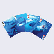 3-D Shark Playing Cards