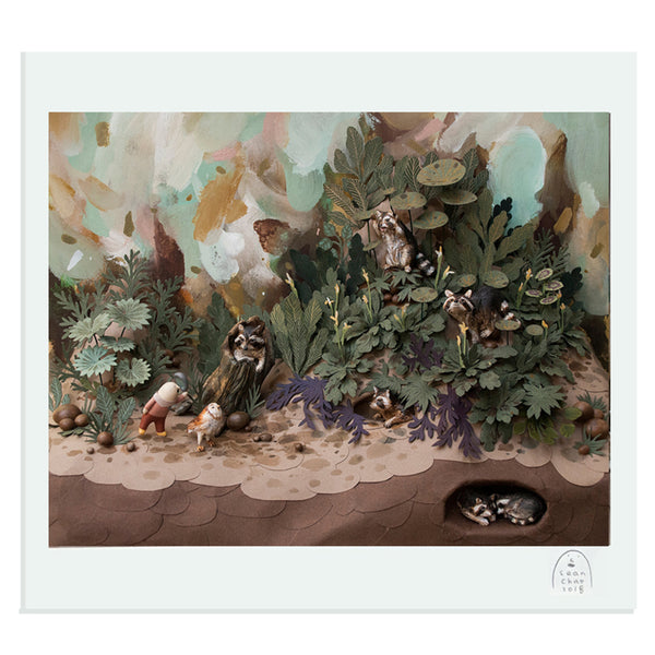 Sean Chao - Meet the Raccoons - print framed/unframed