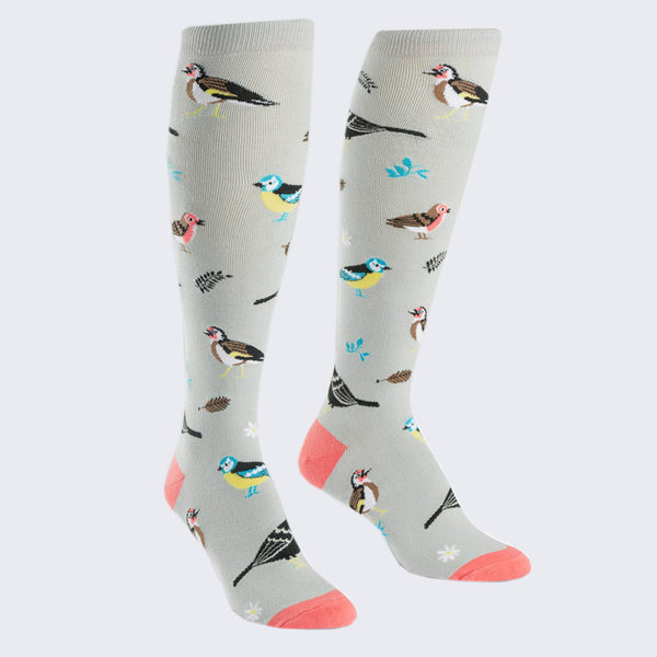 Birds of a Feather Socks (Knee High - Womens)