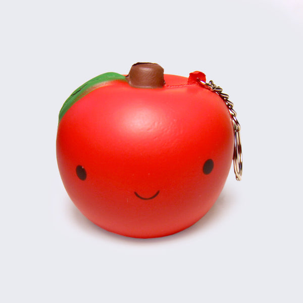 Smiling Apple Squishy Keychain