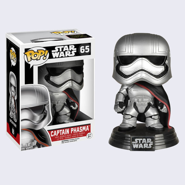 Funko x Star Wars - Pop! Captain Phasma Bobble-Head Vinyl Figure