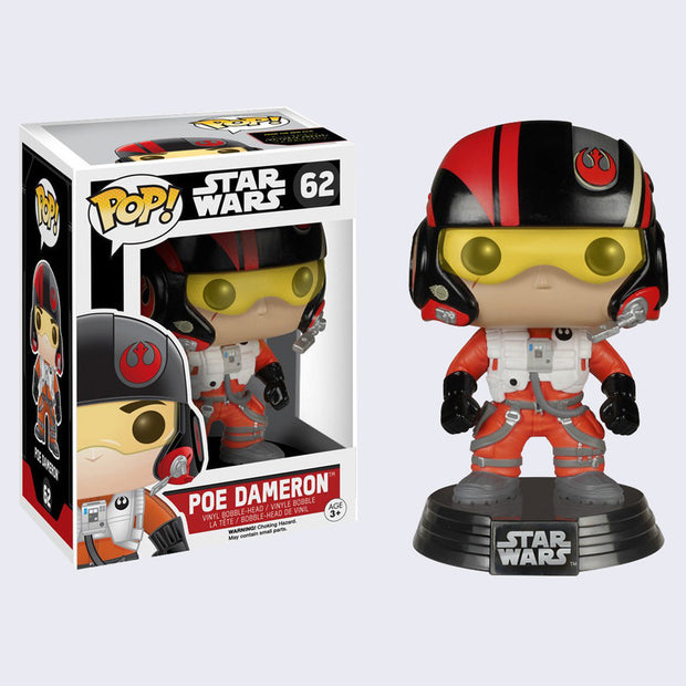 Funko x Star Wars - Pop! Poe Dameron Bobble-Head Vinyl Figure
