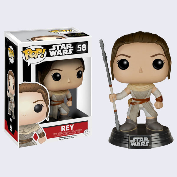 Funko x Star Wars - Pop! Rey Bobble-Head Vinyl Figure