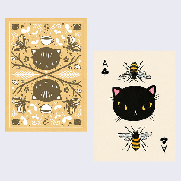 Magic Neko Deck Playing Cards by Stasia Burrington