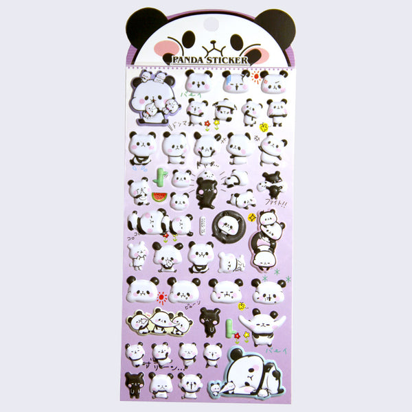 Hilarious Puffy Panda Stickers (Assorted)