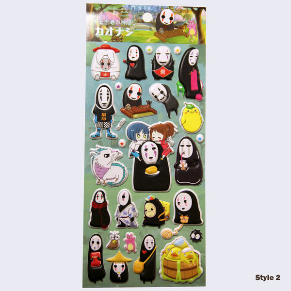 Spirited Away Puffy Assorted Stickers (Glow-in-the-Dark)