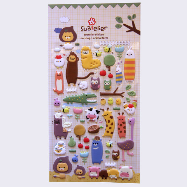 Suatelier Stickers - Puffy Animal Farm