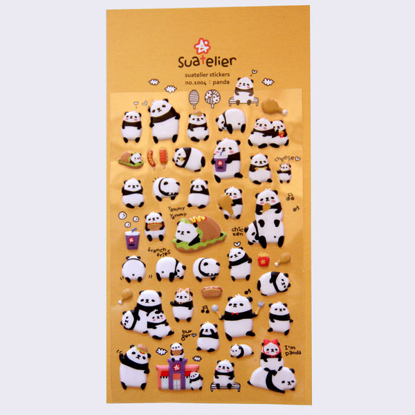 Suatelier Stickers - Puffy Funny Pandas
