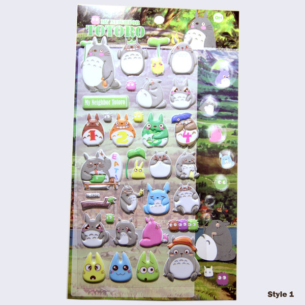 Totoro Puffy Assorted Stickers (Glow-in-the-Dark)