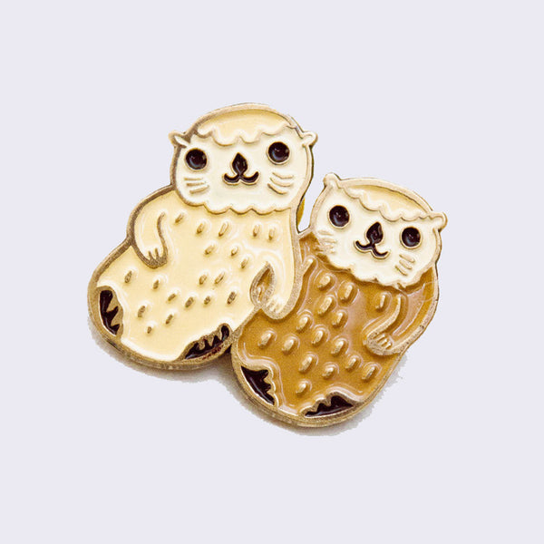 Boygirlparty (Susie Ghahremani) - Otters Holding Hands Enamel Pin