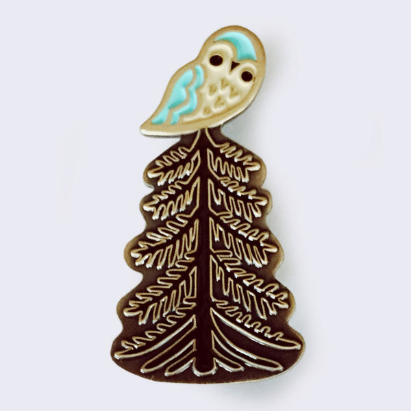 Boygirlparty (Susie Ghahremani) - Owl Tree Enamel Pin (What Will Grow? Exhibition Exclusive)