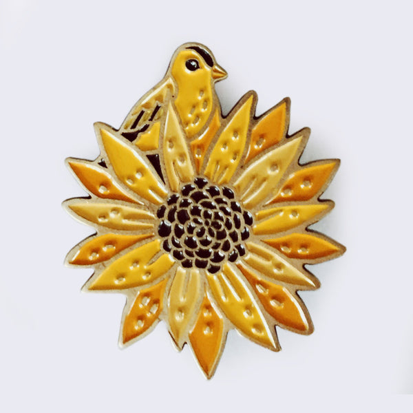 Boygirlparty (Susie Ghahremani) - Sunflower Enamel Pin (What Will Grow? Exhibition Exclusive)