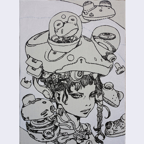Katsuya Terada - Untitled on Canvas 6 - #6