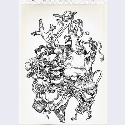 Katsuya Terada - Untitled Drawing Sketchbook 1 - #34