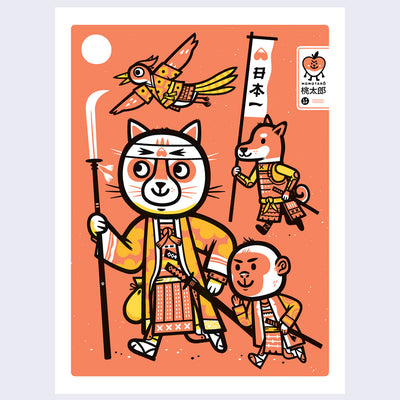 "The Neko Show - The Little Friends of Printmaking - ""Momotaro"""