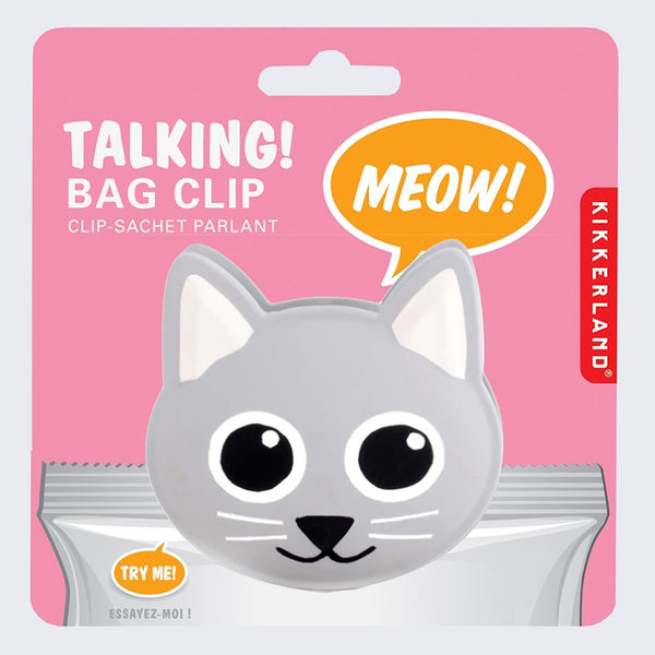 Talking Bag Clip (Cat)