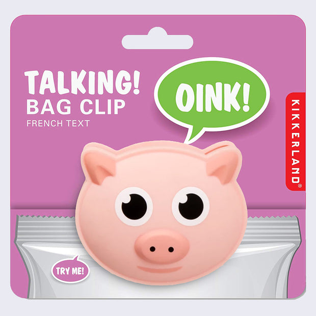 Talking Bag Clip (Pig)