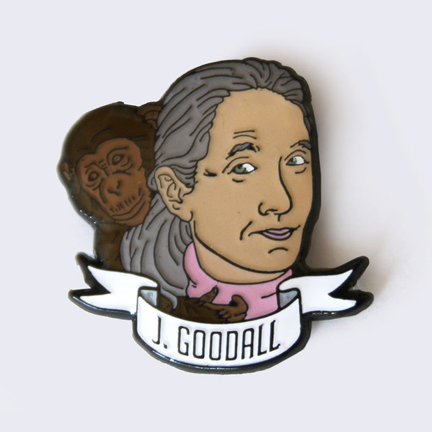 Take A Penny Co. - Science Heroes: Jane Goodall Enamel Pin