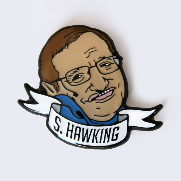 Take A Penny Co. - Science Heroes: Stephen Hawking Enamel Pin