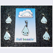 Flat Bonnie - Ugly Cry Tear Drop Keychain or Zipper Pull