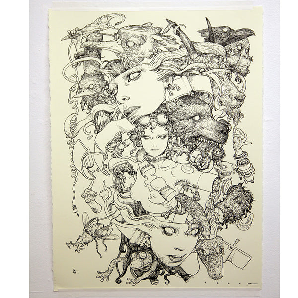 Katsuya Terada - Untitled Live Drawing - #3
