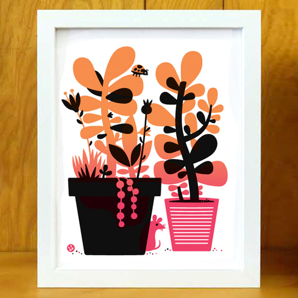 "The Plant Show 2 - The Little Friends of Printmaking - ""Sunset Succulents"""