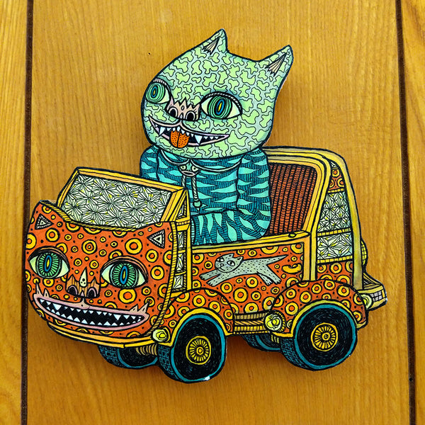 Cats vs Dogs Show - Theo Ellsworth - Cat Kid in a Cat Car