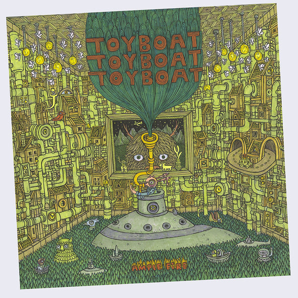 "Toyboat Toyboat Toyboat  - Ample Fire 10"" Vinyl EP (Art by Theo Ellsworth - Signed)"