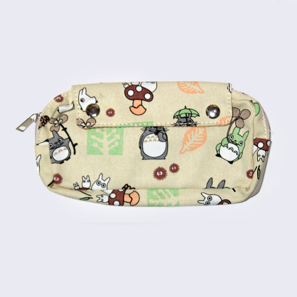 Totoro Canvas Clutch Purse