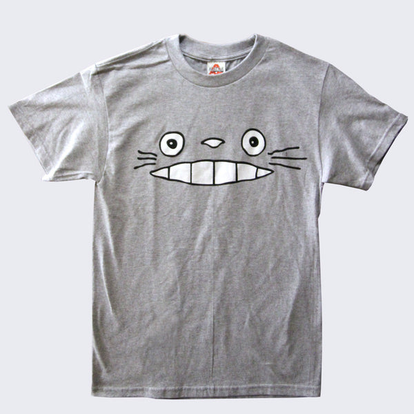 Totoro Face T-shirt (Heather Gray)