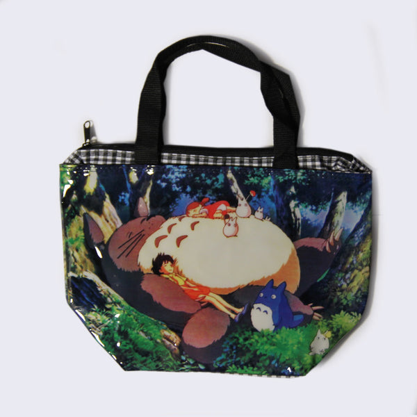 Totoro Small Vinyl Tote Bag (Sleeping)