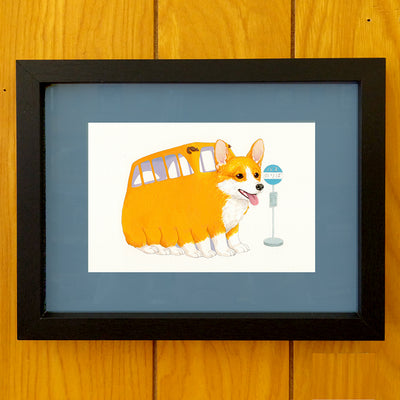 "Totoro Show 5 - Justine Lin - ""All Aboard"" (choice of original or print)"