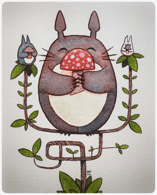 "Totoro Show 5 - Michael Fleming	 - ""Three Mushrooms"""