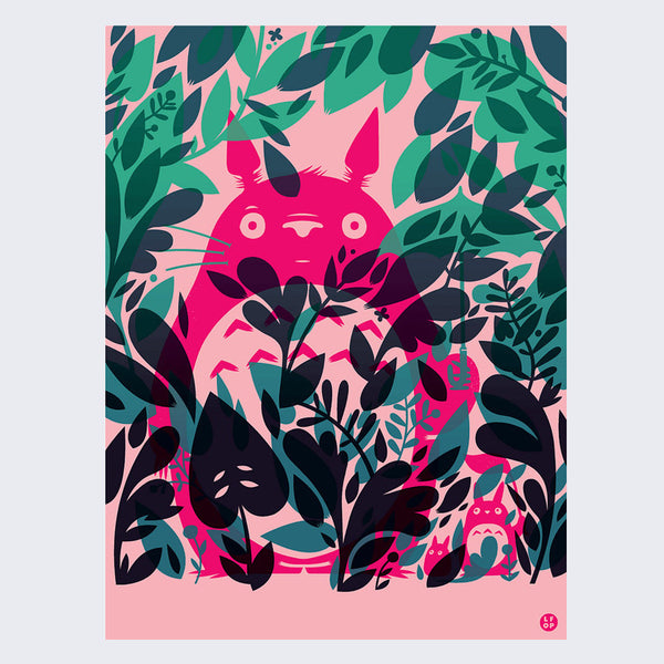 Little Friends of Printmaking - Hidden Totoro Print
