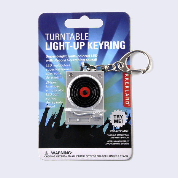 Turntable LED Light-Up Keychain
