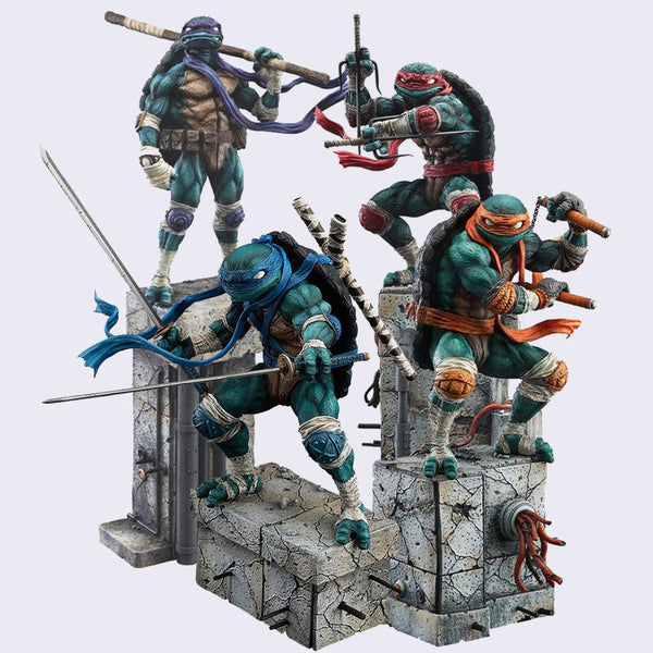 Good Smile Company x James Jean - Teenage Mutant Ninja Turtle Signed Figures *Set of 4* & Signed Print