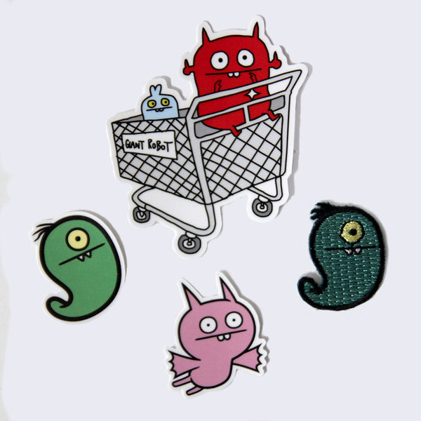 Uglydoll - Uglyworm Patch & Sticker Set
