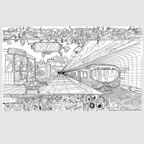 Carlo Stanga - The Wandering City Coloring Book