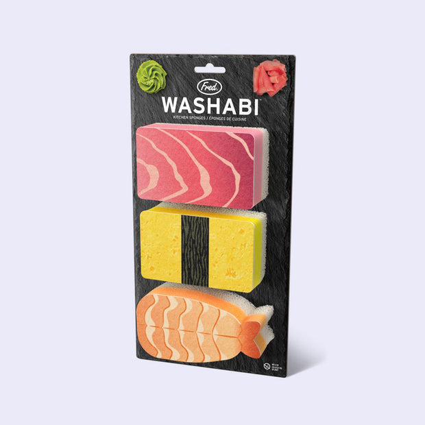 Washabi Sushi Sponges - 3 Pack