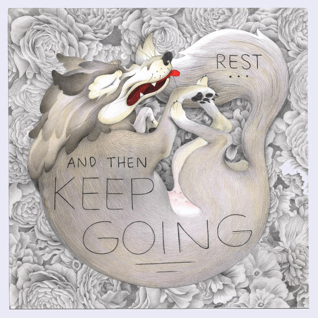 "8 x 8 - Cassia Lupo - ""Rest and Then Keep Going"" original or print"