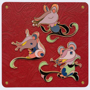 James Jean - Year of the Rat, Three Enamel Pin Set