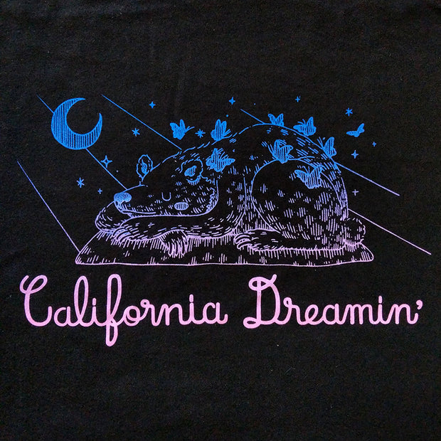 Yoskay Yamamoto x Giant Robot - California Dreamin' T-shirt (bitmap gradient on black)