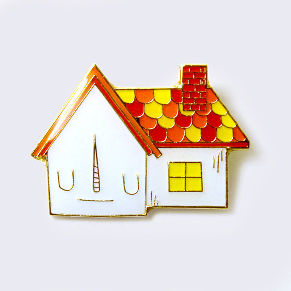 Take A Penny Co. - Artist Series: Yoskay Yamamoto Fall Colors House Enamel Pin (Glow-in-the-Dark)
