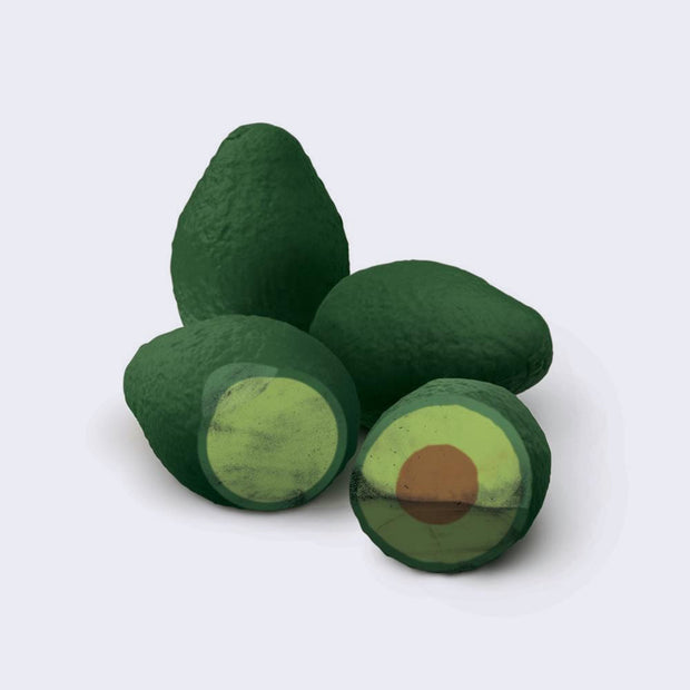 Avocado Erasers (Pack of 4)